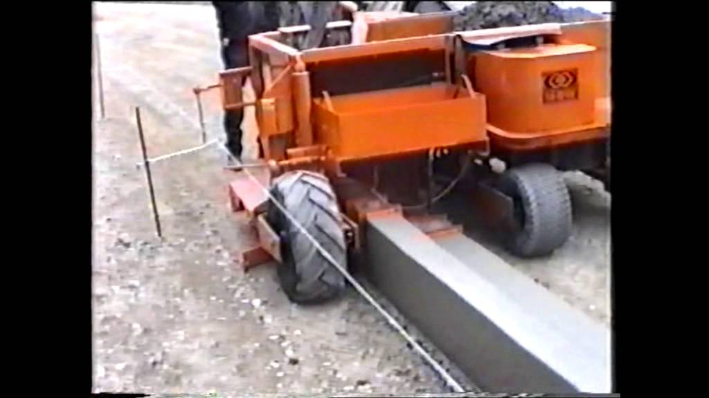 Mbw Concrete Slipform Curb Machine With Extension Youtube