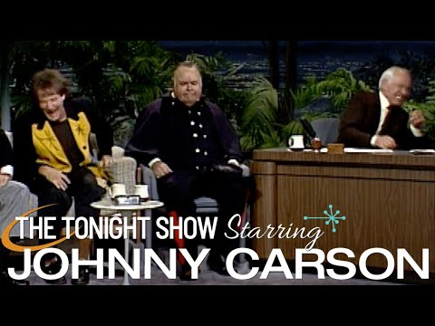 Jonathan Winters and Robin Williams on The Tonight Show Starring Johnny Carson