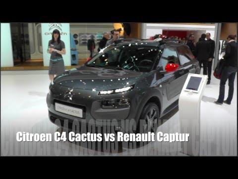 citroen c4 cactus vs renault captur youtube. Black Bedroom Furniture Sets. Home Design Ideas