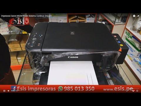 Impresora Canon MG3610 con Sistema Continuo (iniciar)