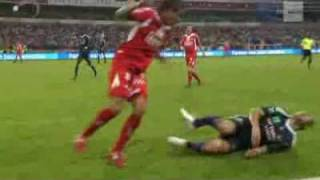 Marcin Wasilewski Broken leg after Horror Tackle Axel Witsel Standard - Anderlecht