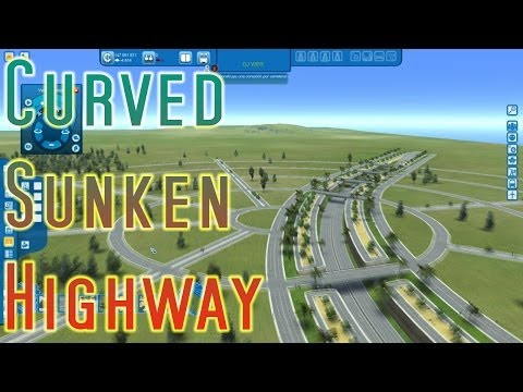Cities XL Platinum - CURVED SUNKEN HIGHWAY in a Circular Road System [HD]