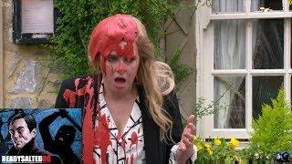 Emmerdale - Megan Pours Paint Over Charity