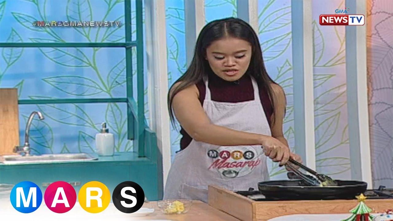 Mars Masarap: Fried suman sa ibos with creamy mango and sago shot by Divine