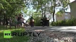 Estonian Bikers ride to oppose refugee camp