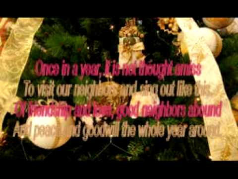 We wish you a Merry Christmas - The Weavers - (Lyrics)