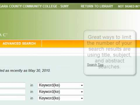Database Basics - Niagara County Community College Library