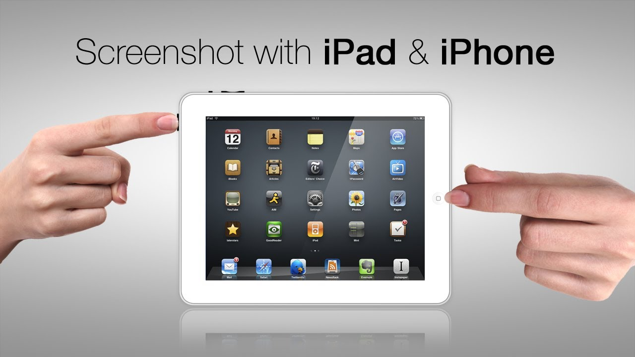 How to Screenshot with iPad & iPhone TUTORIAL - YouTube