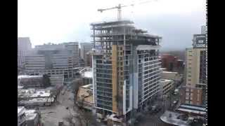 Luxury Residential High-Rise Construction Timelapse