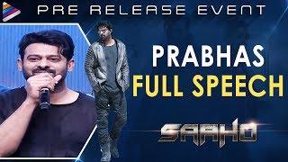 Saaho Pre Release Event | Prabhas | Shraddha Kapoor