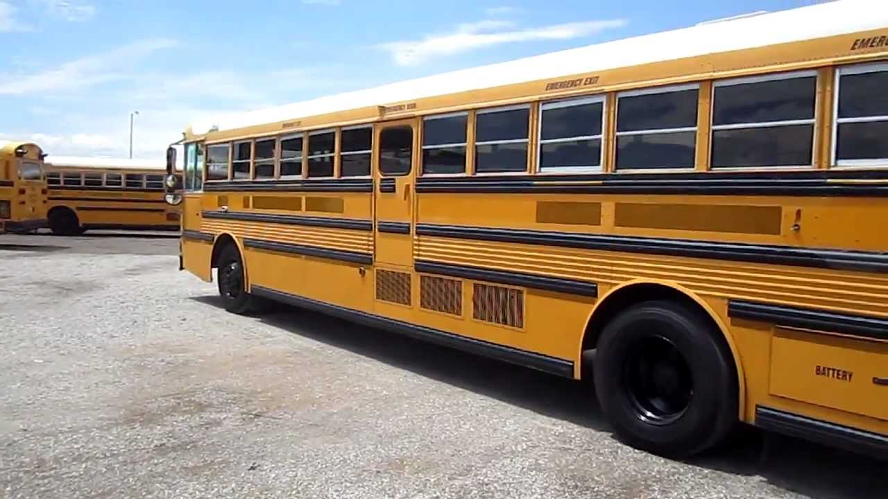 Thomas Built Buses >> 40 foot long thomas school bus with rear cummins engine b62822 - YouTube
