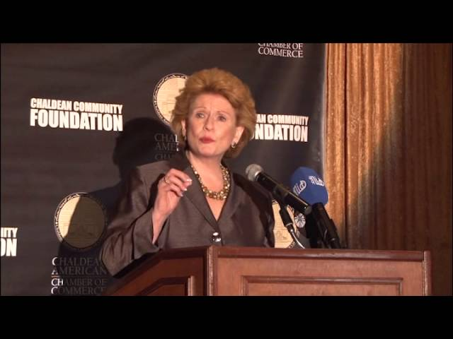 Senator Debbie Stabenow delivers welcoming remarks at the 2014 Eleventh Annual Awards Dinner