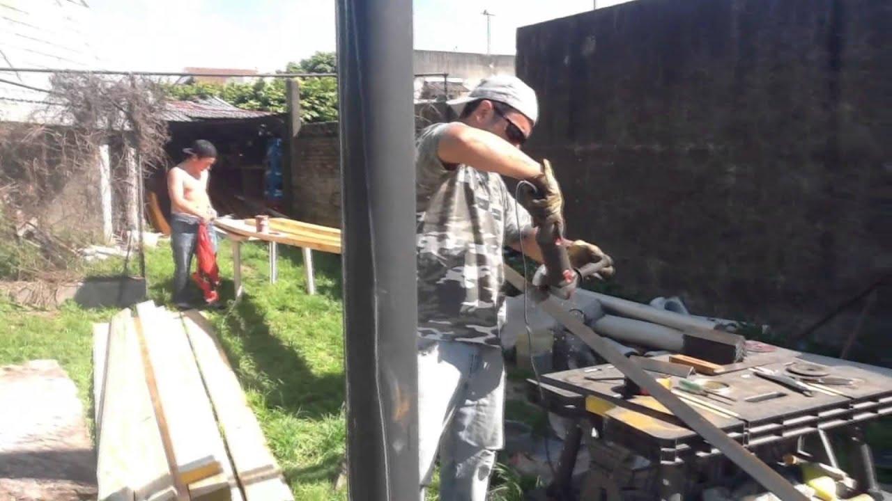 Techo garaje en dos dias ok youtube for Como hacer un techo economico