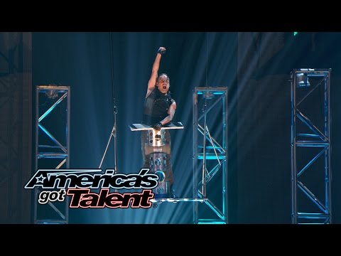 Jonatan Riquelme: Rolla Bolla Act Defies Gravity - America's Got Talent 2014