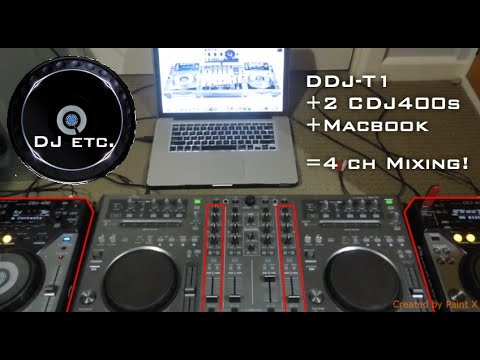 How to play two CDJs through a DDJ-T1