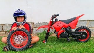 FUNNY BABY The wheel went down Ride on New Dirt Cross Bike Mini Power Wheel Pocket Bike Fixing Wheel