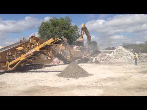 Crushing operation at work