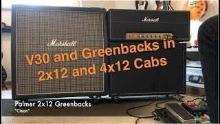 Celestion Vintage 30 and Greenback Speakers in 2x12 and 4x12 Cabinet