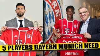 BAYERN MUNICH Transfer News | 5 Players Bayern Munich Needs To Regain Dominance ft Aguero & Martial