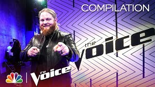 Chris Kroeze's Journey on The Voice - The Voice 2018 (Compilation)