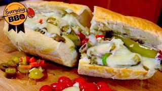 Italian Sausage Sandwich Recipe - Smoked Italian Sausage - Pellet Smoker - Everyday BBQ