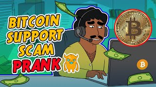Bitcoin Support Scam (crazy)