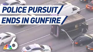 High-Speed Police Pursuit of UPS Truck Ends in Gunfire, Multiple Fatalities | NBC 6