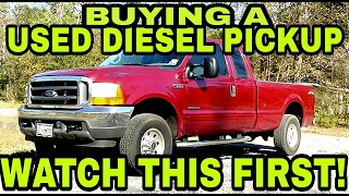 BUYING A USED DIESEL PICKUP? Watch this first!