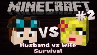Minecraft | Husband VS Wife SURVIVAL | Episode 2 | The Elusive Mine Shaft!