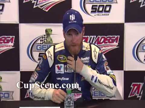 NASCAR at Talladega Superspeedway, May 2015:  Dale Earnhardt Jr. post race