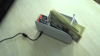 Gadget Hero's Mini Currency Counter Money Cash Counting Machine Dual Power.