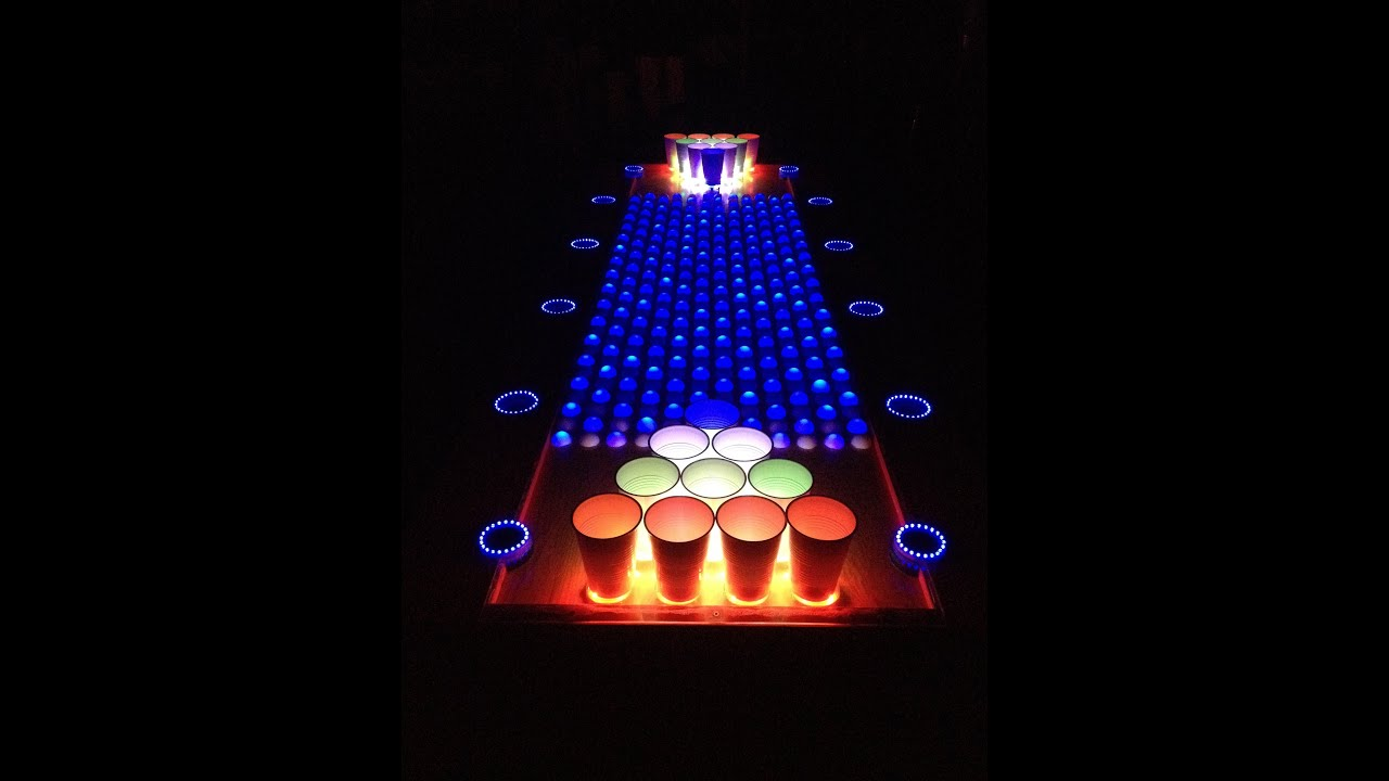 Interactive Led Beer Pong Table Youtube