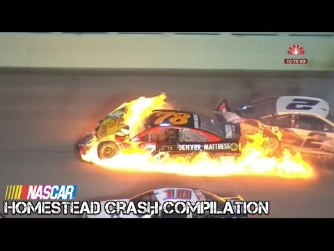 Nascar - 2016 - Homestead - Crash Compilation (Original Sound - No Music)