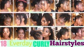 18 CURLY Hairstyles For SHORT/MEDIUM Natural Hair