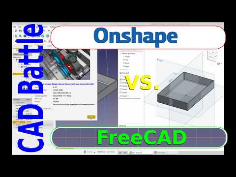 CAD Battle - FreeCAD Vs. OnShape - Open Source Vs. Free To Use !