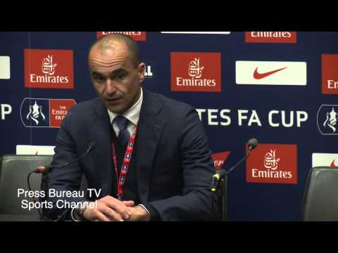 Roberto Martinez reaction Everton vs Manchester United FA CUP Semi Final