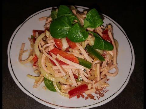 Колбасный салатик ( по немецкому рецепту) !!!
