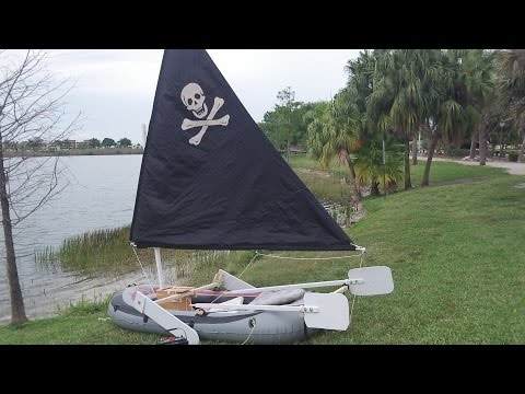 DIY $100 Inflatable sailboat details of parts and costs
