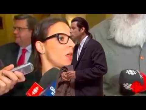 Coderre essaie crasher la conférence de Projet Montréal #Travolta