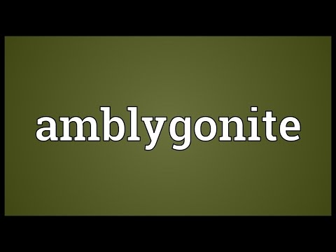 Header of amblygonite