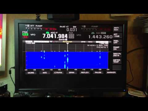 Kenwood TS-990S RTTY TEST - Connected to a Dell 30