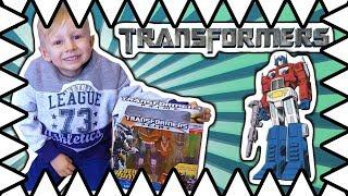 Transformer Toys Optimus Prime! Transformer Toys Review - Bumblebee Optimus Megatron!
