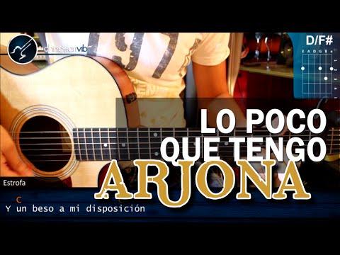 Como tocar Lo Poco Que Tengo RICARDO ARJONA Guitarra Tutorial COMPLETO HD Acustico