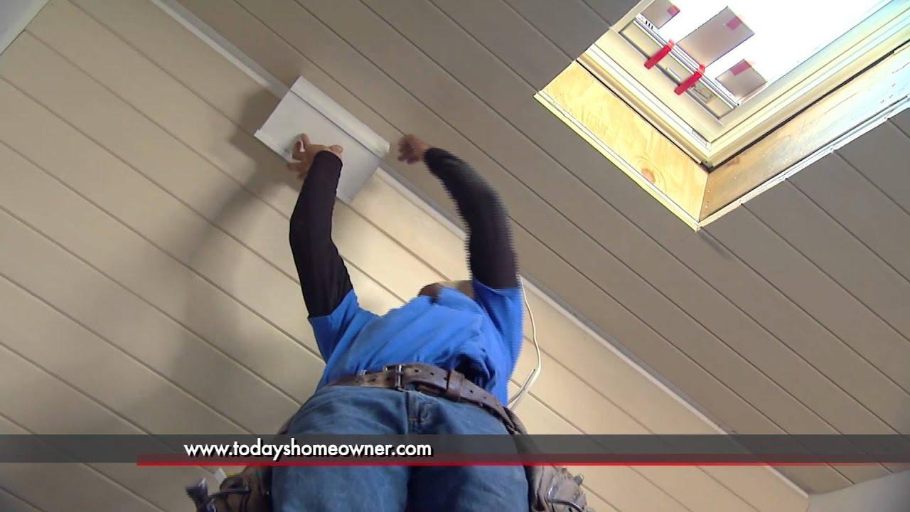 Building Faux Ceiling Beam in Vaulted Room - YouTube