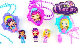 Little Charmers Lockets and Tiny Doll Set Unboxing - Hazel, Lavender, Posie