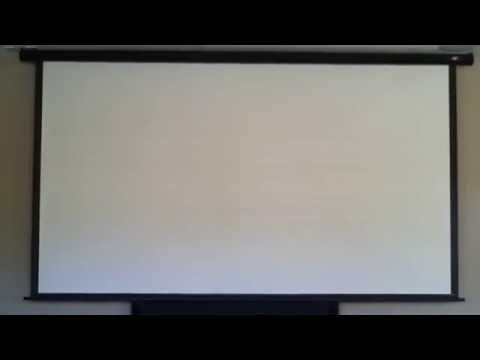 Projector screen by elite in ceiling electric home for Elite motorized projector screen