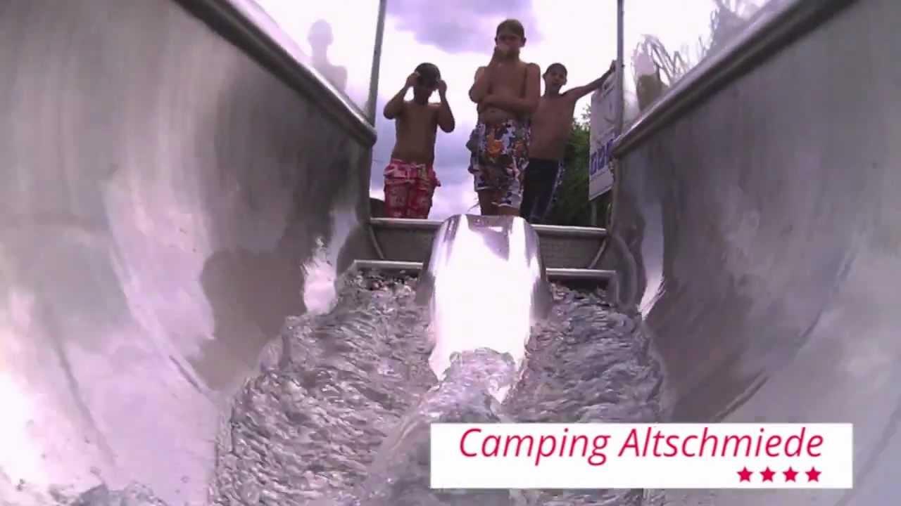 Rutschen im schwimmbad auf dem campingplatz altschmiede for Schwimmbad herzogenaurach