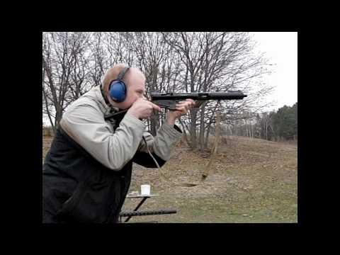 The Sten MK III (or Sten gun)  as seen in slow motion
