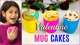 3 Yummy MUG CAKE Recipes | Valentine's Day Special | Cook With Nisha