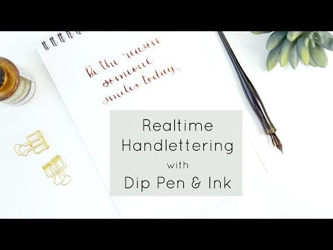 Dip Pen & Ink Handlettering in Realtime | My Favorite Nib for Calligraphy